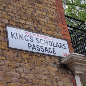 Street sign reading King's Scholars' Passage