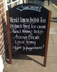 A sign advertising artesian biscuits--thomas-editing