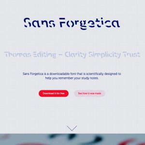 Screen grab of Sans Forgetica
